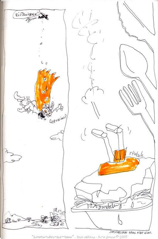"""Jam-Comic """"Supernaturkoteletteman & Schmorzwiebel-Boy"""""""