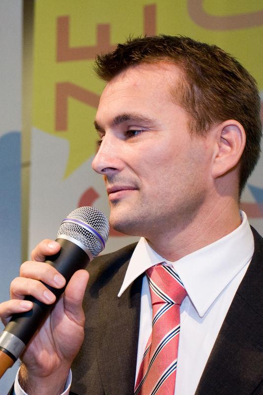 Herr Kaufmann bei der Ansprache
