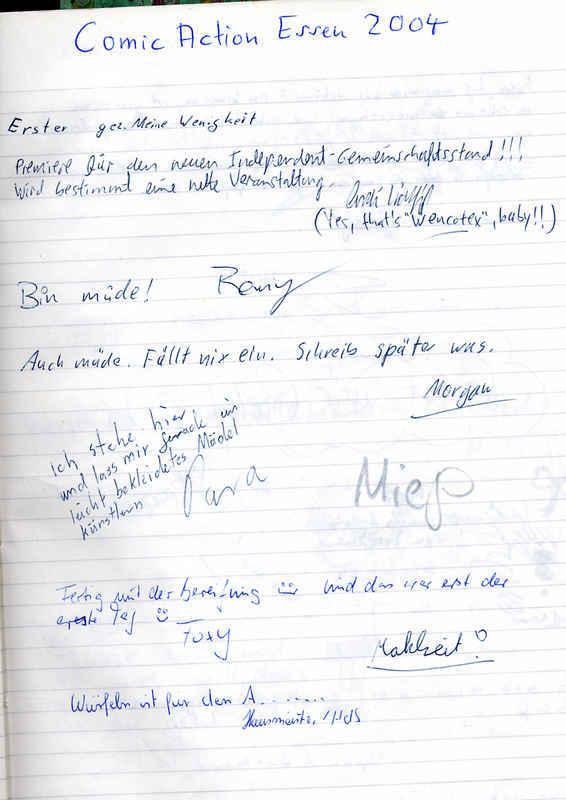 Logbuch Seite 1