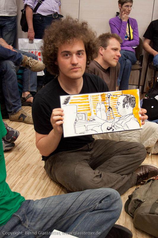 Und hier Moritz Stetter, der Bernd gezeichnet hat